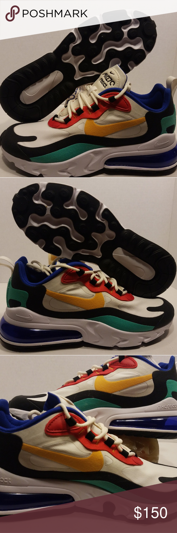 Details about Nike Air Max 270 React 'Bauhaus' Men's Size 8 Airmax Phantom GoldRed AO4971 002