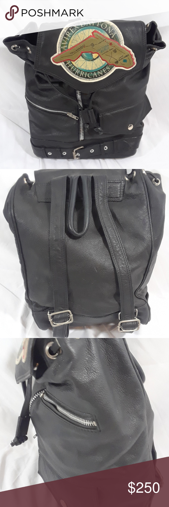 Avirex Daytona Hurricanes Leather Flight Backpack Clothes Design Fashion Fashion Trends