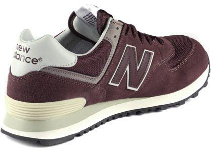 Nouvel Équilibre Ml574 - Chaussures De Sport Laag - Rouge Foncé / Blanc / Rouge Foncé