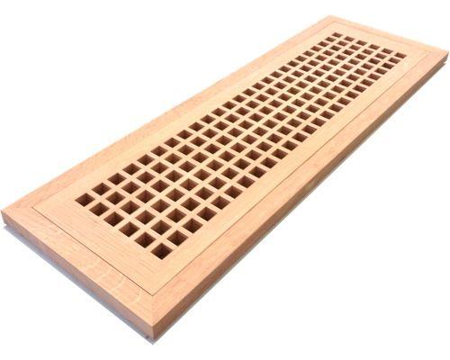 1 4 Sawn White Oak Egg Crate Grates And Grills Flush Mount Wood Floor Vent Wood Flush Mount Wood Floors White Oak