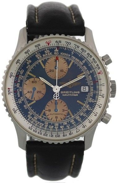 8f52676ec3e7 Breitling Navitimer II A13022 Stainless Steel   Leather Automatic 41.5mm  Mens Watch