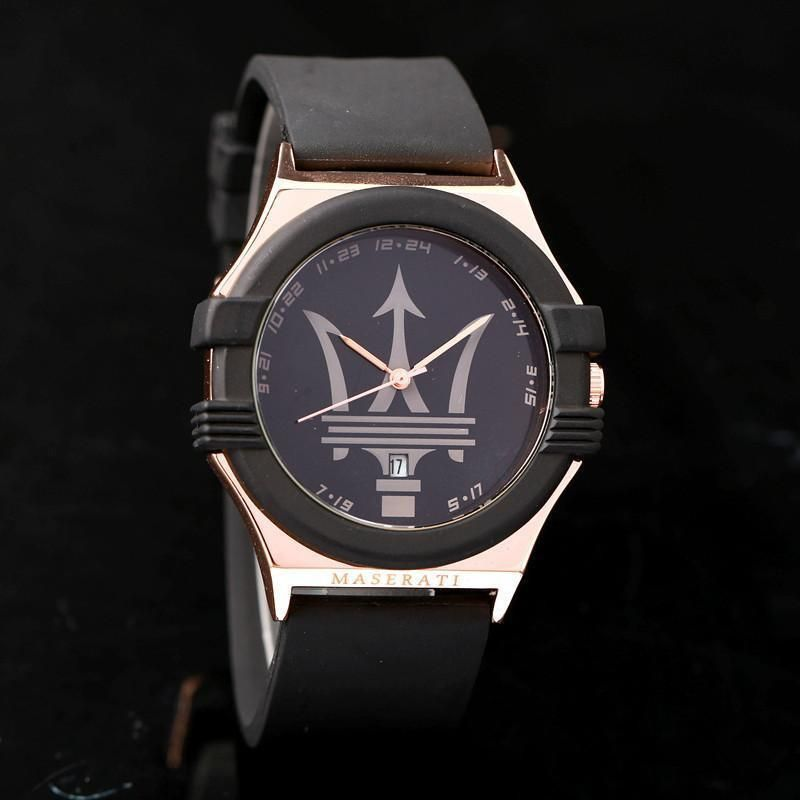 detalles de maserati quartz acero inox y correa silicona reloj sport