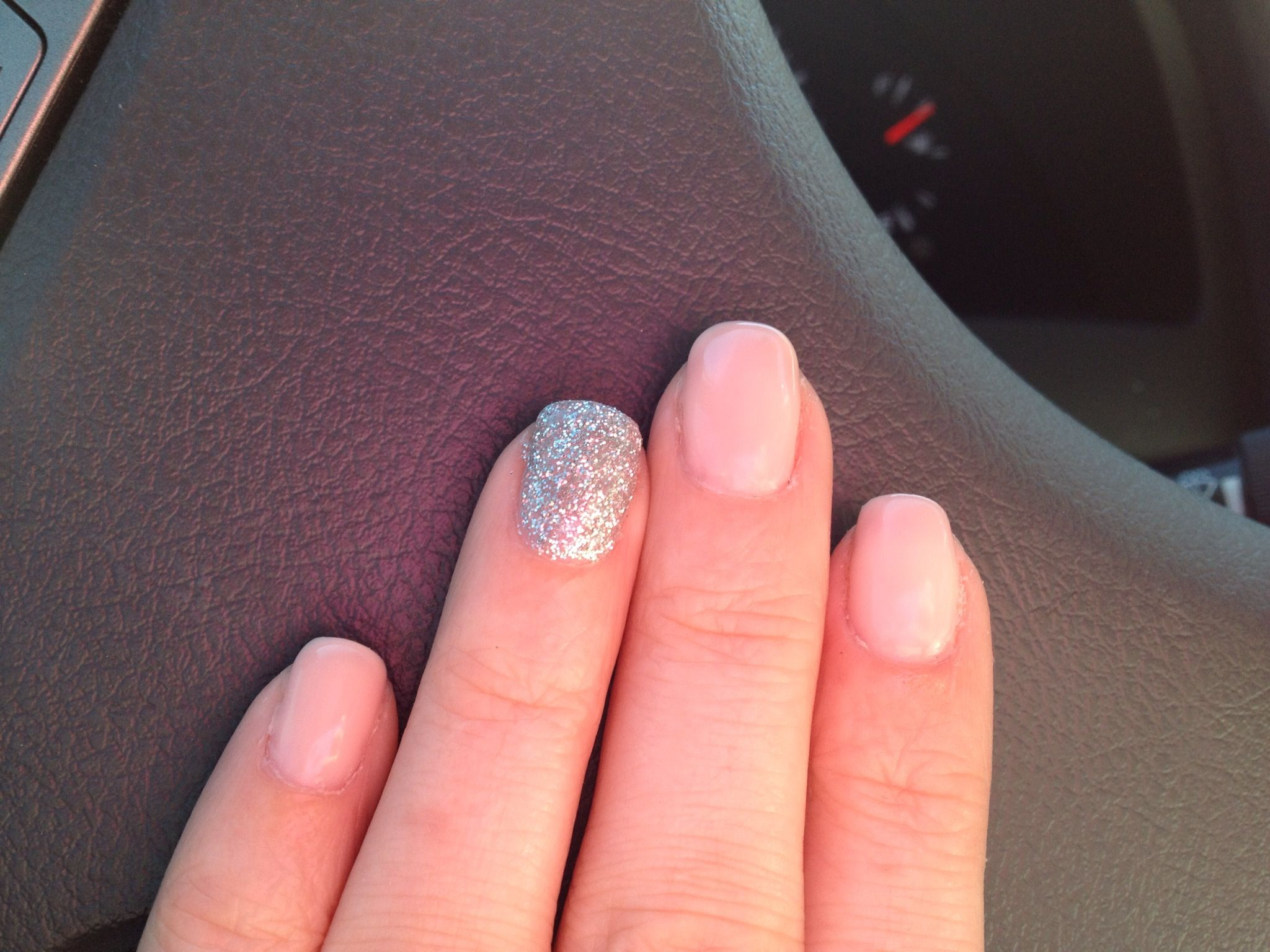 OPI gel color Bubble Bath with ring finger glitter❤ | Nails nails ...