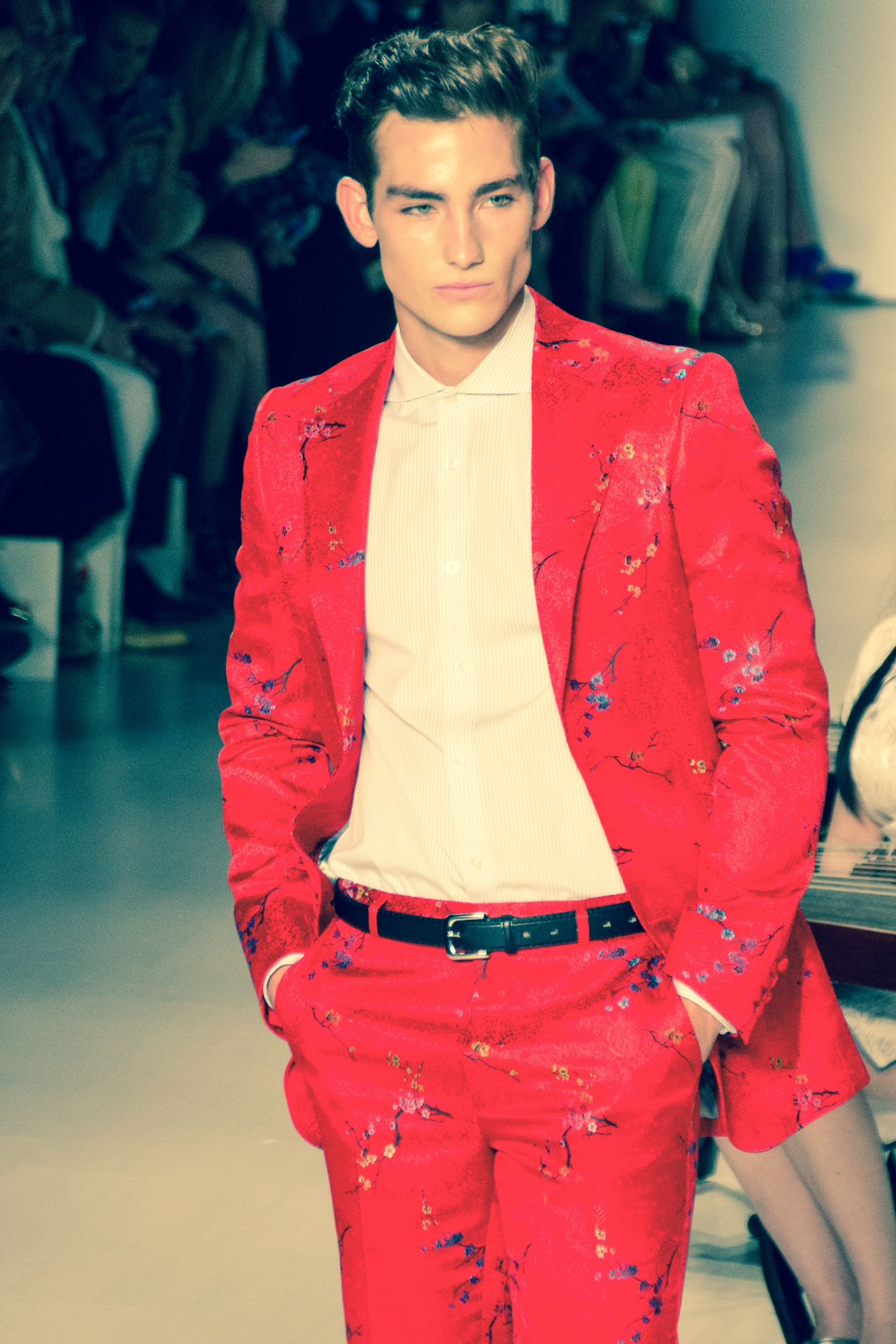 Male's hair look by Christo Fifth Avenue Fashion, Red