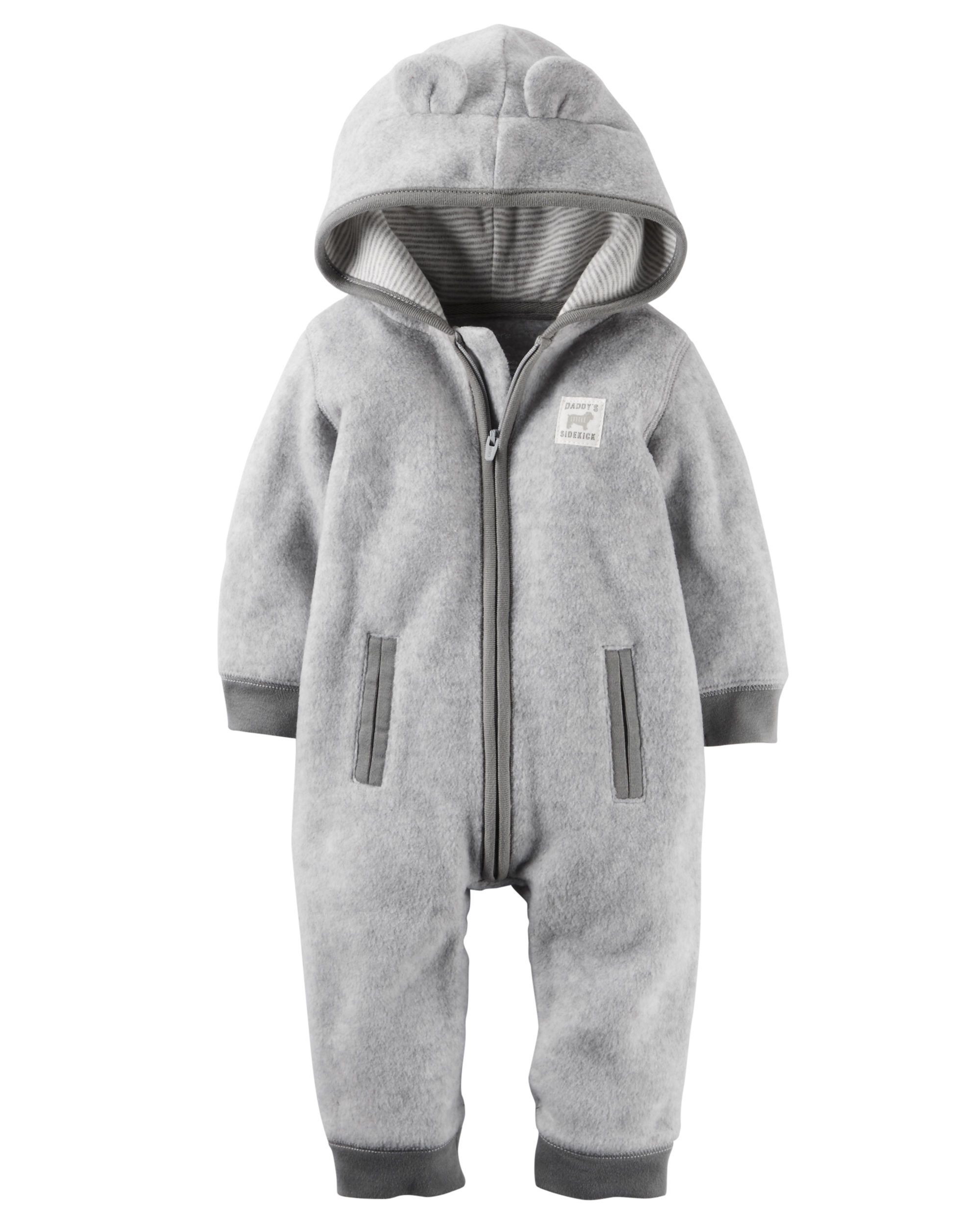 a14628c15 Hooded Fleece Jumpsuit from Carters.com. Shop clothing & accessories from a…