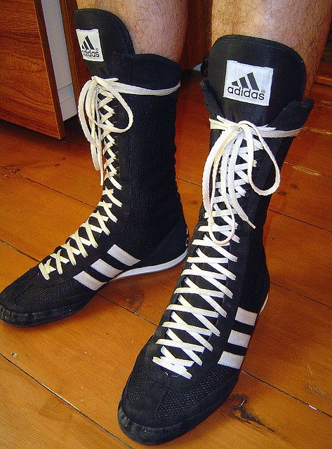 Black White *NEW 2017 Design* Adidas Box Hog Boxing Boots