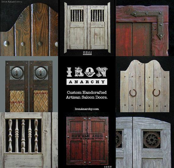 Vintage Swinging Cafe Doors, Handcrafted Aged Wood Saloon Pub - Vintage Swinging Cafe Doors, Handcrafted Aged Wood Saloon Pub