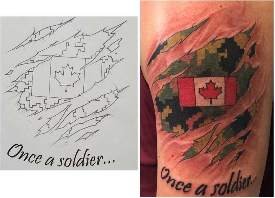 canadian military tattoos rcaf caf cadpat tattoos pinterest tattoo tatoos and tatoo. Black Bedroom Furniture Sets. Home Design Ideas