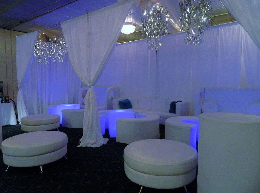 Incredible VIP lounge area right in our Marquis Room for this Bat - fresh blueprint furniture rental