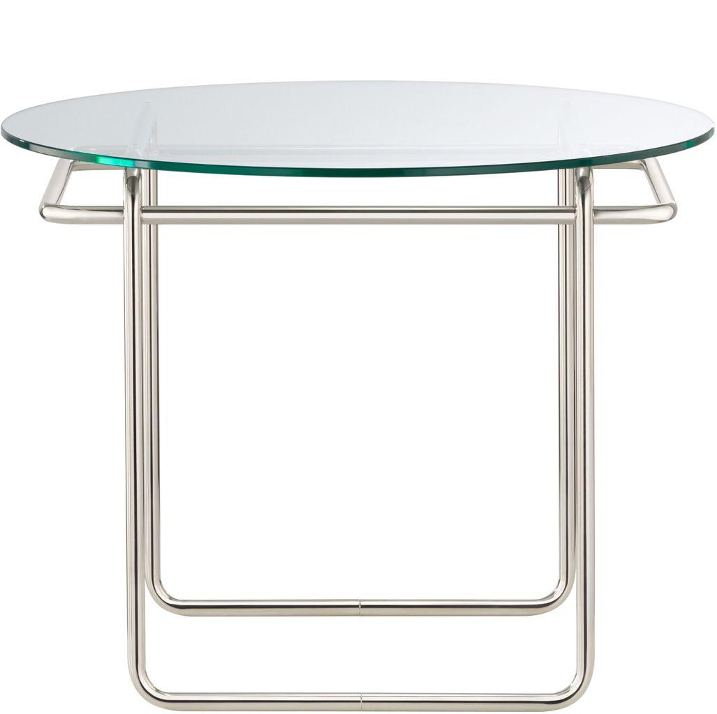 TECTA K40 Kristallglas Couch Tisch Marcel Breuer Bauhaus Front 1