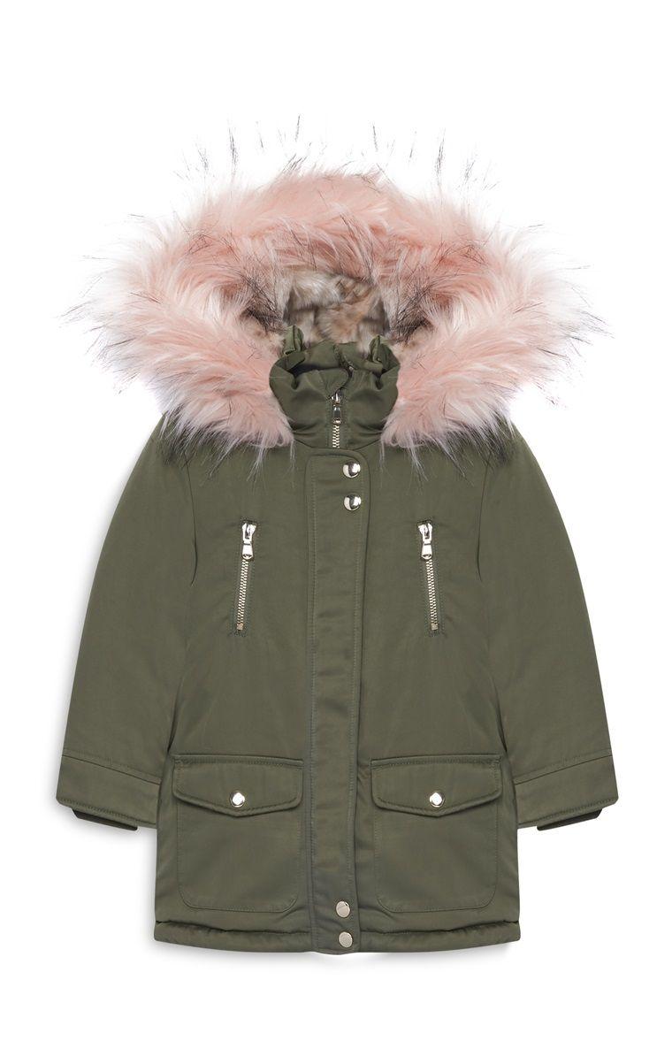ventas calientes 35451 1d1f5 Primark - Parka color caqui de niña pequeña   ropa niños ...