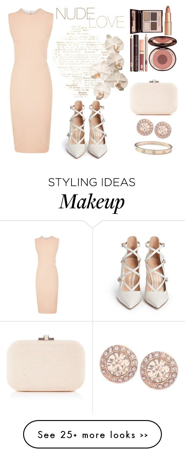 """""""NUDELOVE"""" by stylecious on Polyvore featuring Victoria Beckham, Gianvito Rossi, Judith Leiber, Charlotte Tilbury, Givenchy and Cartier"""