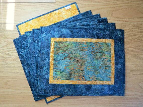 These Beautiful Batiks In Navy Blue