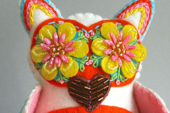 Embroidered Owl Mexican Folk Art Owl Doll от calaverasYcorazones