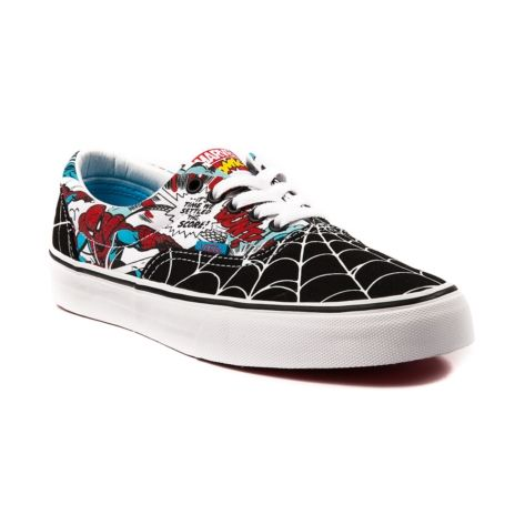 e0641623d49 Shop for Vans Era Spider-Man Skate Shoe in Black White at Journeys Shoes.  The Vans Era is a skate classic crafted with a soft footbed