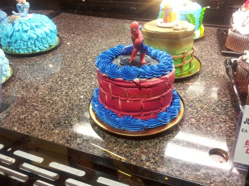 Surprising Safeway Spider Man Petite Cake With Images Spiderman Cake Personalised Birthday Cards Epsylily Jamesorg