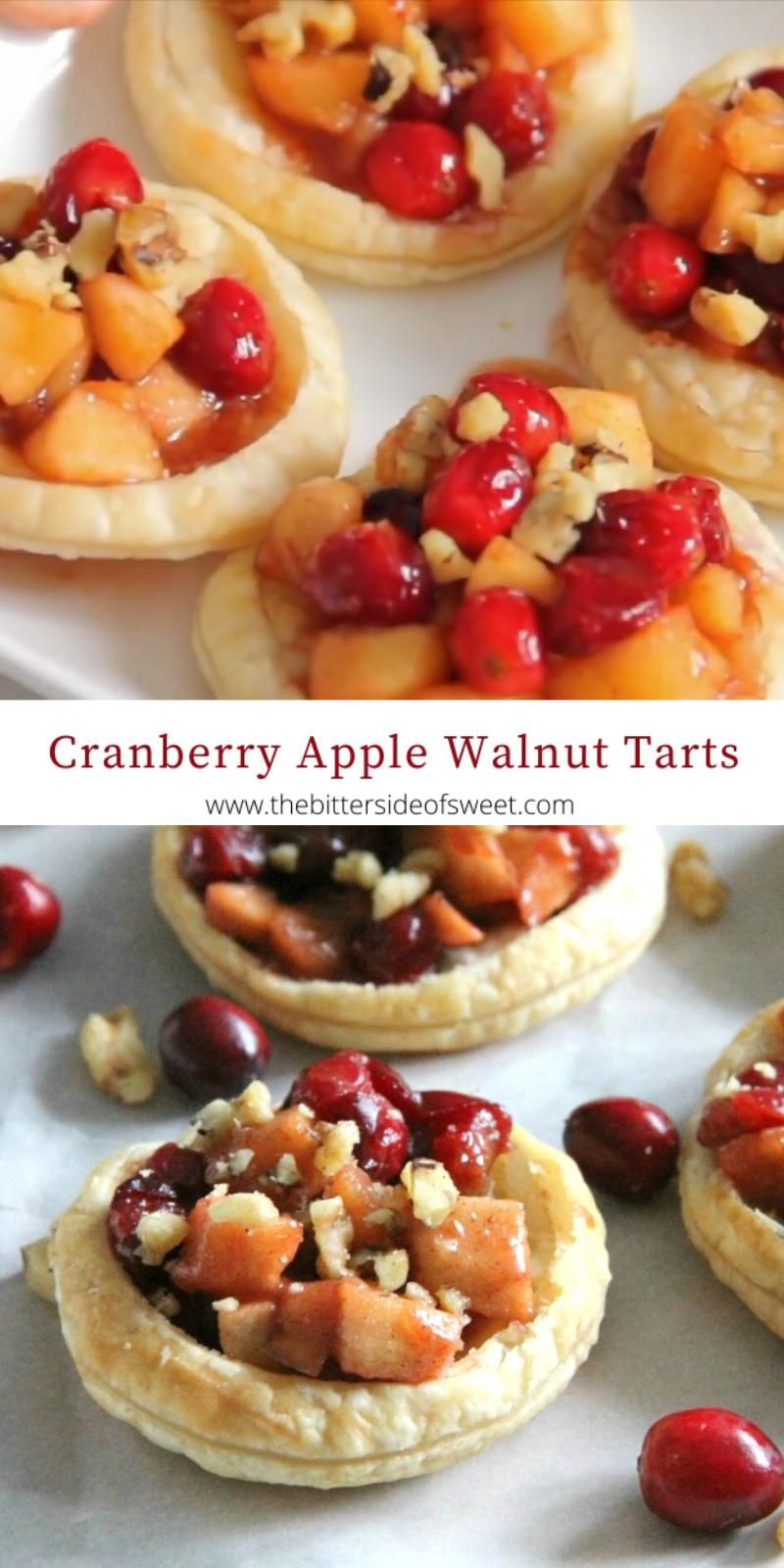 Cranberry Apple Walnut Tarts -   23 thanksgiving recipes videos appetizers desserts ideas
