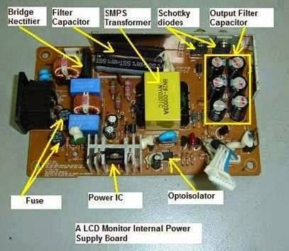 Understanding Power Supply Board Of LCD Monitor. | Electrical ...