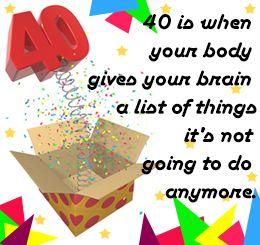 40th Birthday Quotes 40th Birthday Quotes Birthday Quotes 40th Birthday Funny