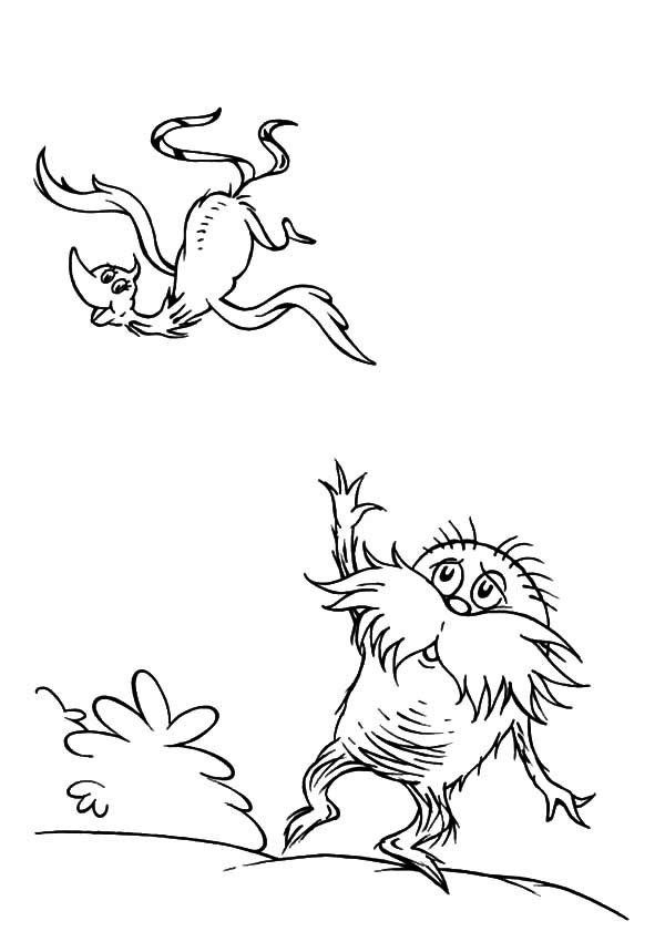 Printable Dr Seuss The Lorax Coloring Pages For Kids Dr Seuss Coloring Pages Bird Coloring Pages Coloring Pages