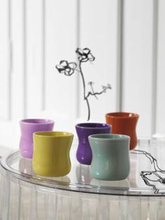 Love these cups from Jeanette List Amstrup.