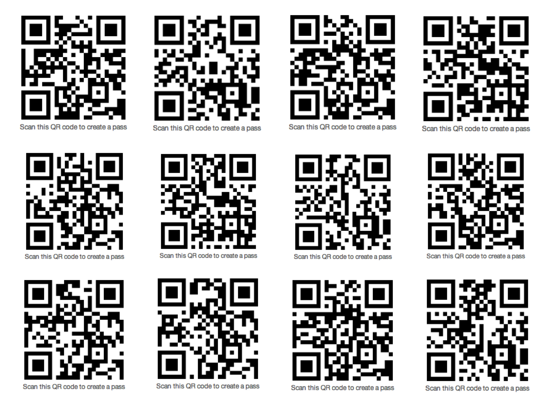 If you have ios6 on your iphone or ipod touch scan any of these qr if you have ios6 on your iphone or ipod touch scan any of these qr codes for cool sample passbook passes colourmoves