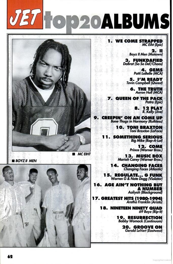 Mc Eiht, Boyz II Men  - Jet Magazine October 1994.