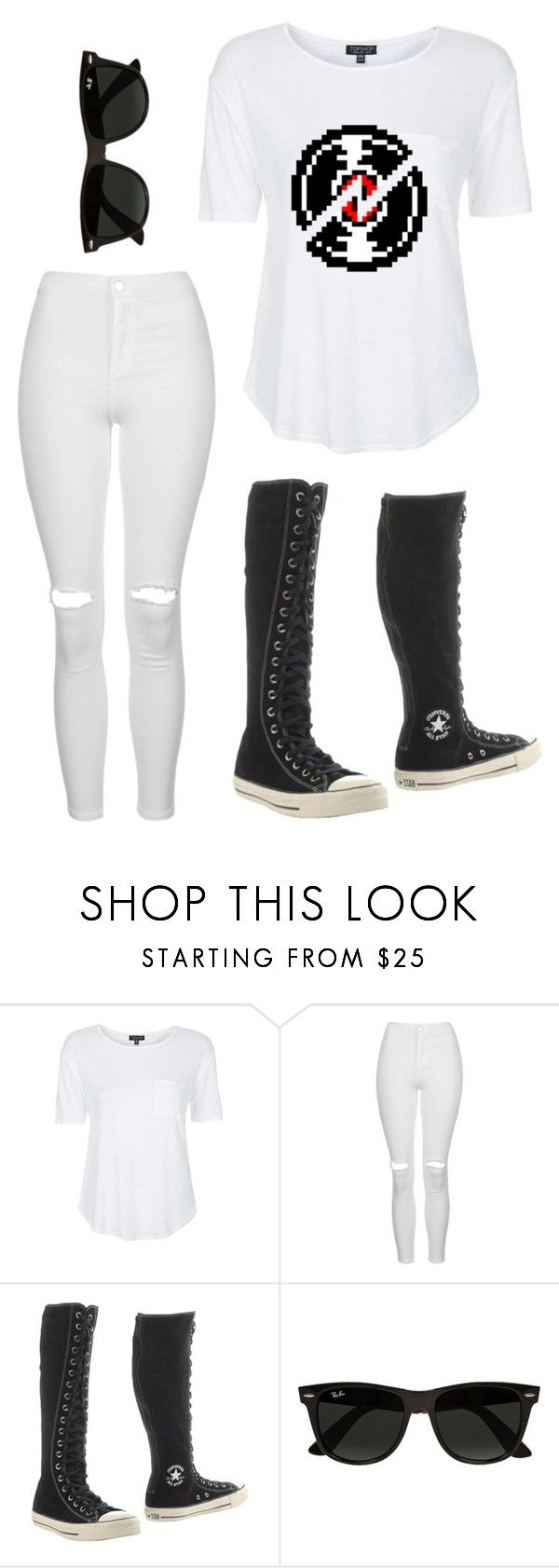 """""""DAVE STRIDER"""" by onthewingsofacastiel ❤ liked on Polyvore featuring Topshop, Converse and Ray-Ban"""
