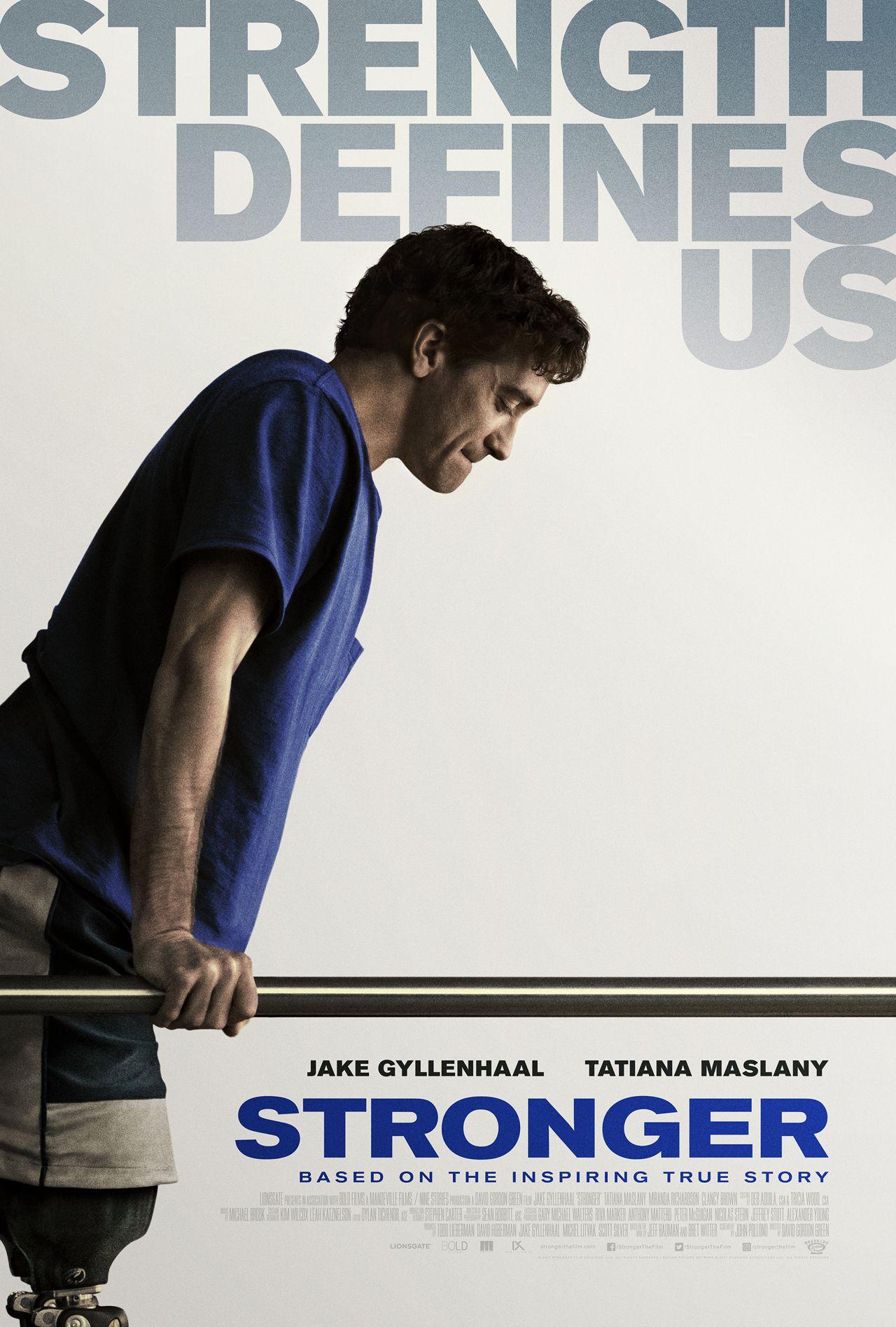 STRONGER starring Jake Gyllenhaal & Tatiana Maslany
