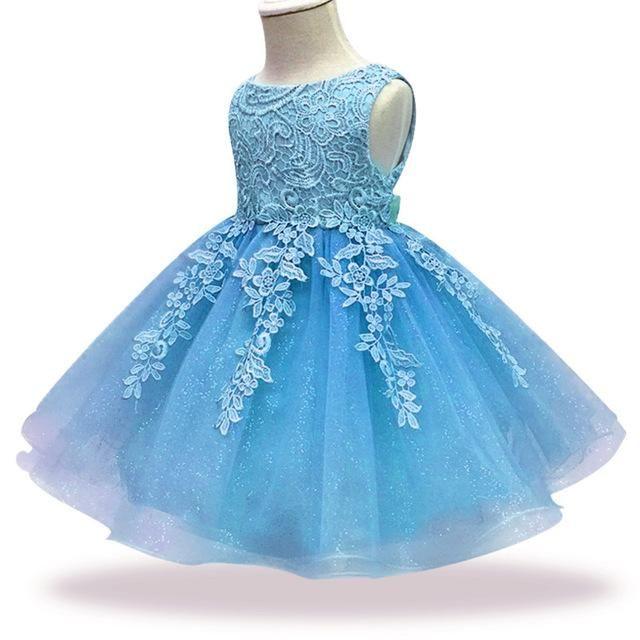 c8526acf9 New Lace Baby Girl Dress 9M-24M 1 Years Baby Girls Birthday Dresses ...