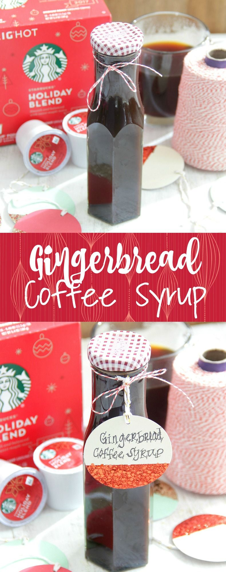Gingerbread Coffee Syrup Makes for great homemade gifts