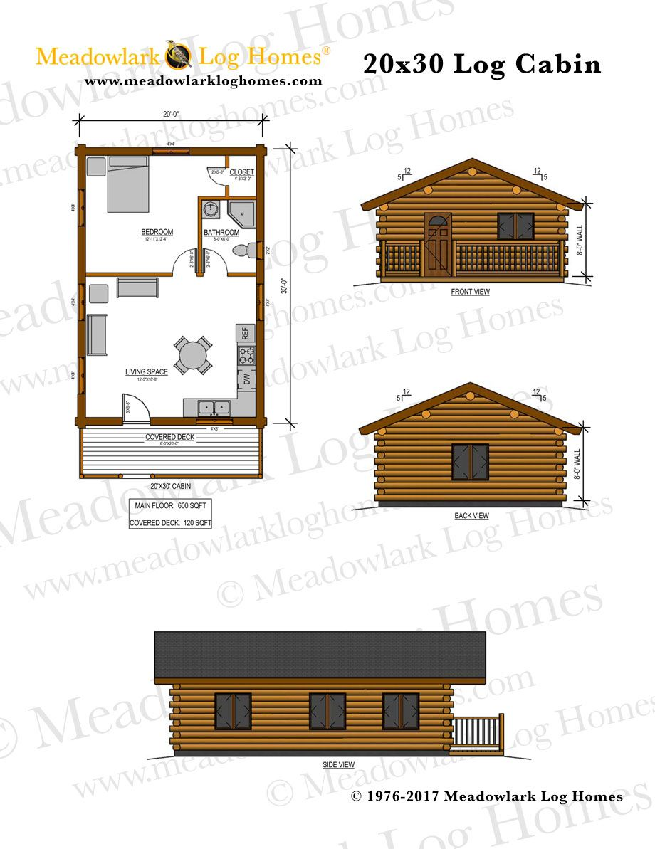Silver Butte 20x30 Log Cabin Meadowlark Log Homes Small Cabin Plans Log Cabin Plans Log Home Floor Plans