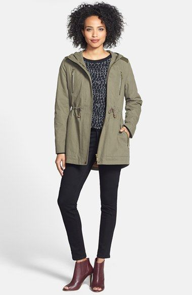 382a7e1f50c7a Kristen Blake Hooded Cotton Anorak