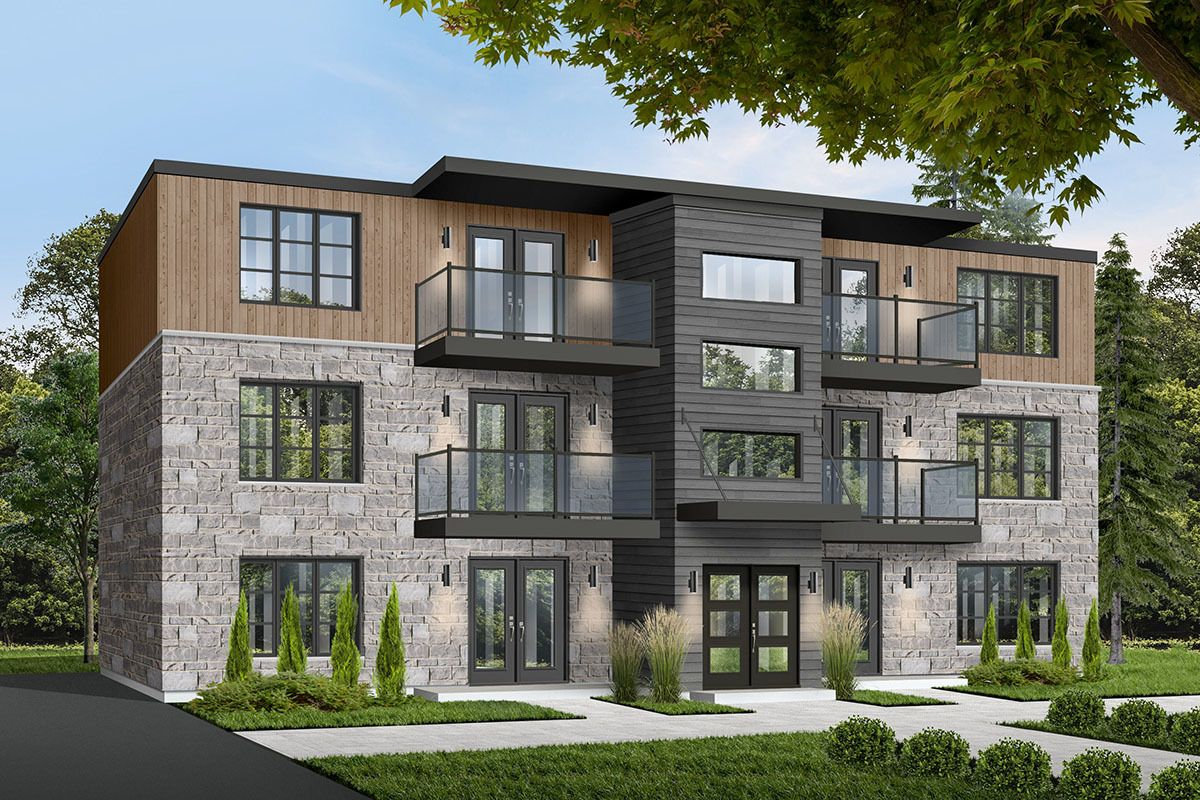 Plan 21603dr 6 Unit Modern Multi Family Home Plan With Images