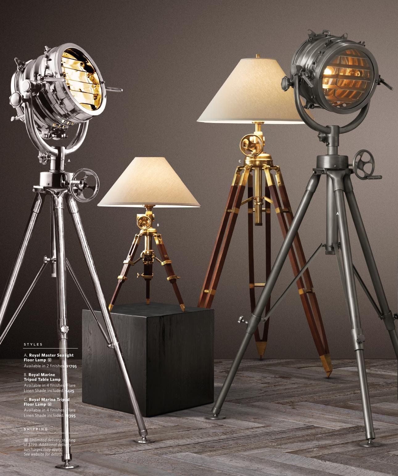 Rh Source Books Floor Lamp Lamp Light Floor Lamp Table