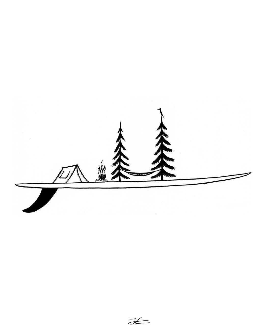 Single Stuff T Shirts Prints Fun Stuff Www Jonasdraws Com Happy Tuesday Surf Drawing Shaka Tattoo Surf Tattoo