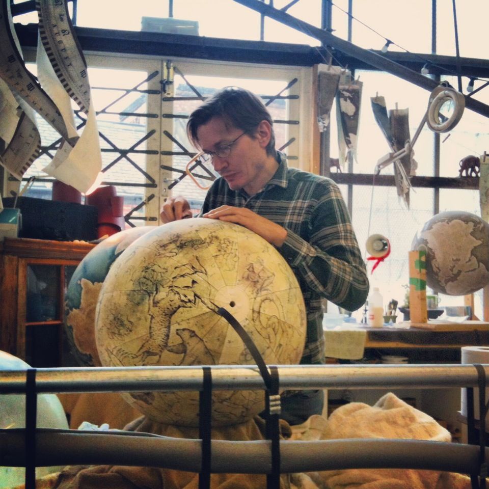 Bellerby and Co Celestial Globe : Globemaker : Peter Bellerby : Handmade Bespoke World Globes. Photo : Jade Fenster