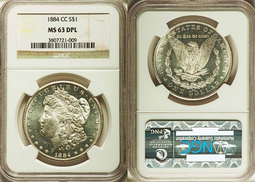 1884CC Carson City Dollar PCGS GRADED MS63 DPL DEEP