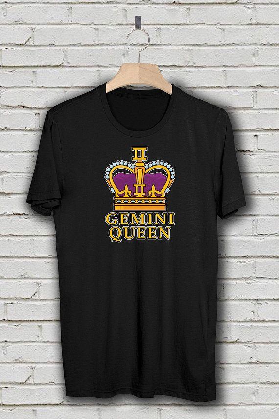 0a1140dbc Gemini Shirt, Gemini Queen Zodiac T-Shirt, Born in May and June, Birthday  Shirt, Astrology Gift, Plu