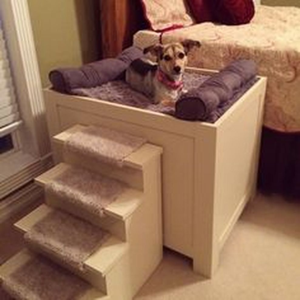 Dog stairs for bed 57 cozy diy dog bed ideas your friend