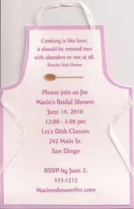 Apron Bridal Shower Invitation