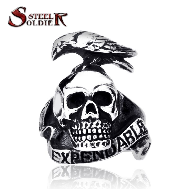Steel Soldier New Arrival Stainless Steel The Expendables Ring For