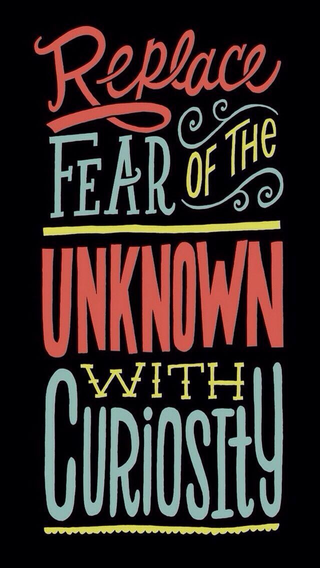 Replace Fear Iphone Wallpapers Vintage Quotes And Retro Typography