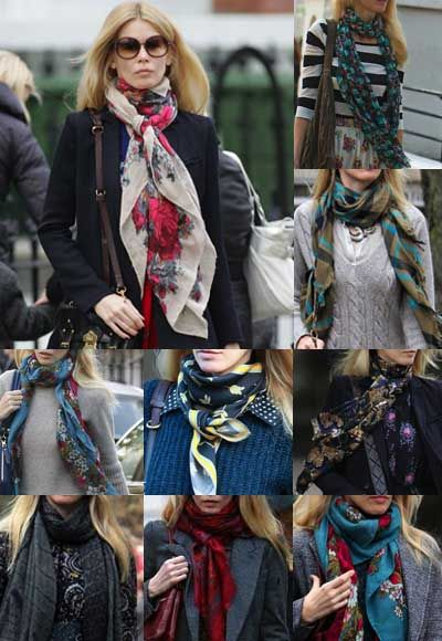 Claudia Schiffer - Style - Scarves - REPRODUCAO