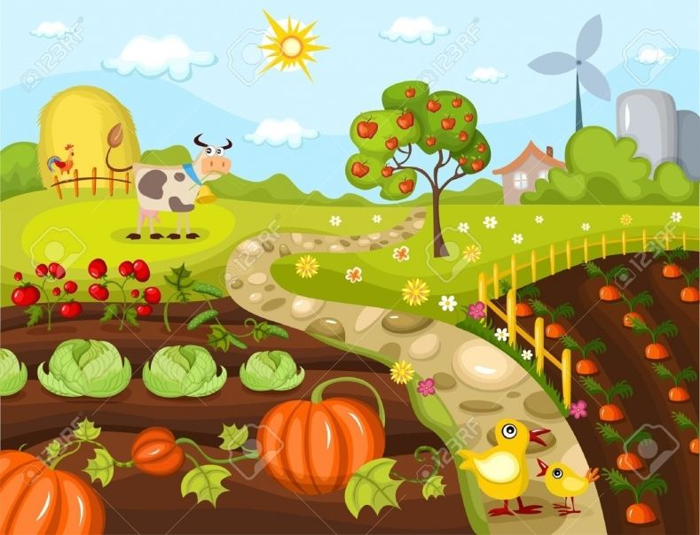 Farm Garden Clipart Some Possess The Natural Born Ability While Many Others Take Time To Learn The Ability Some Garden Clipart Farm Images Vegetable Farming