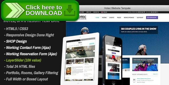 Free nulled Hotec - Responsive Hotel, Spa \ Resort Template download - free reservation forms