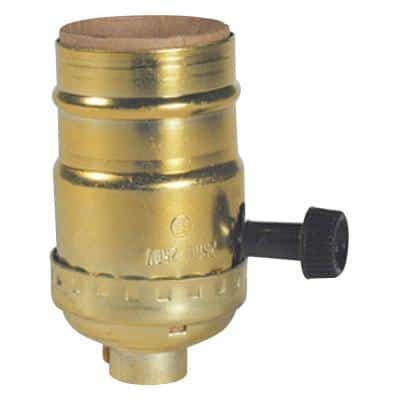 Westinghouse 7041100 2-1//4 Brass Pull Chain Socket