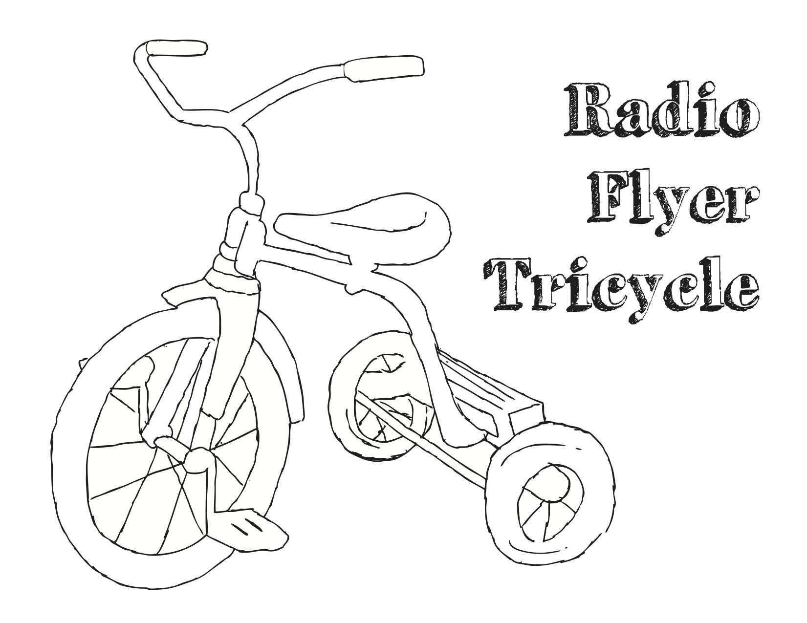 tricycle for children coloring page coloringcrewcom