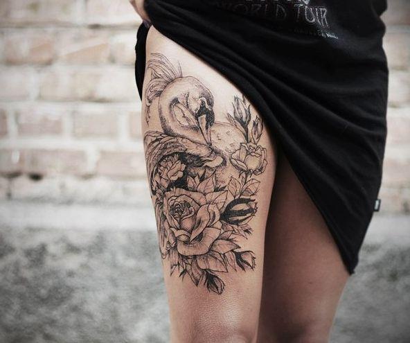 cuisse, sur le côté, grande pièce | tattoos | pinterest | tattoos