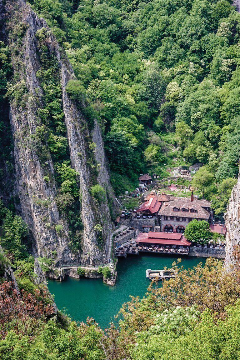 Matka Canyon Hotel Restaurant Skopje Macedonia Macedonie Albanie Reizen